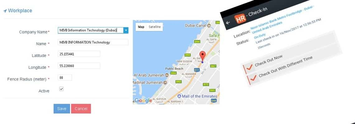 Geo Fencing - Cloud Based HR and Payroll Solution UAE